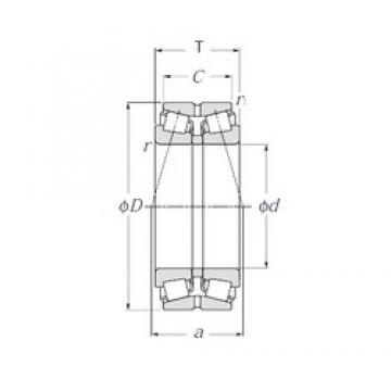 NTN 413044E1 Double Row Tapered Roller Bearings (Outside Direction)