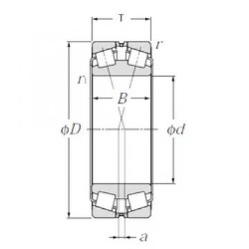 220 mm x 340 mm x 90 mm  NTN 323044E1 Double Row Tapered Roller Bearings (Inside Direction)