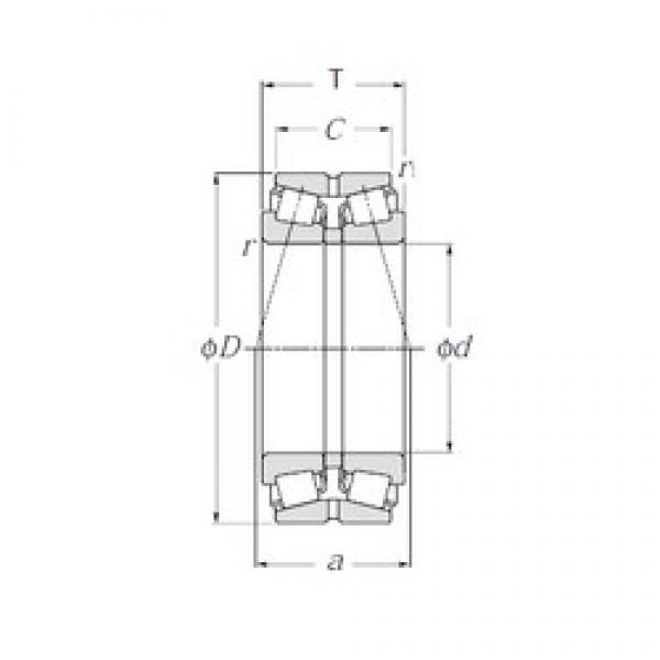 NTN 432324U Double Row Tapered Roller Bearings (Outside Direction) #1 image